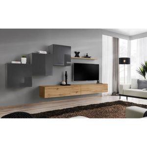 MEUBLE TV Ensemble meuble salon mural SWITCH X design, color