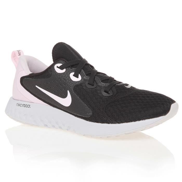 NIKE Chaussures de running Legend React - Femme - Noir et Rose