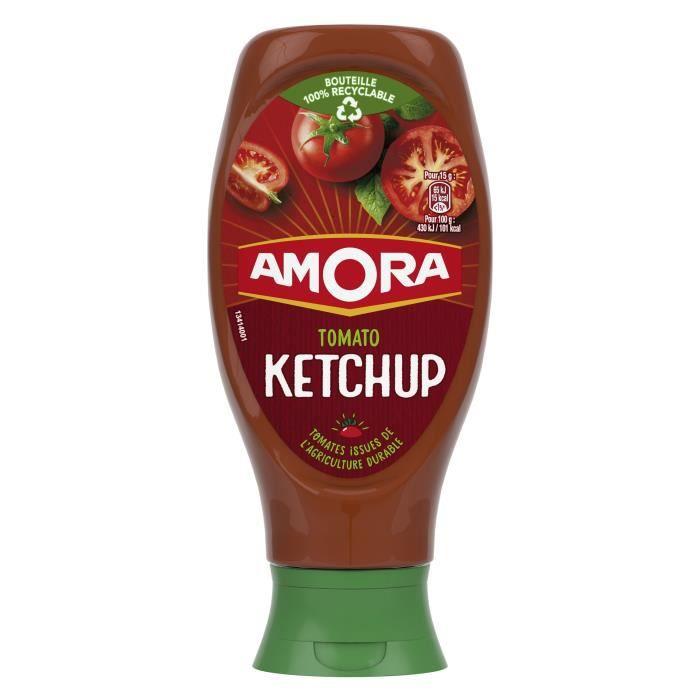 AMORA Ketchup Nature Flacon Souple - 550 g