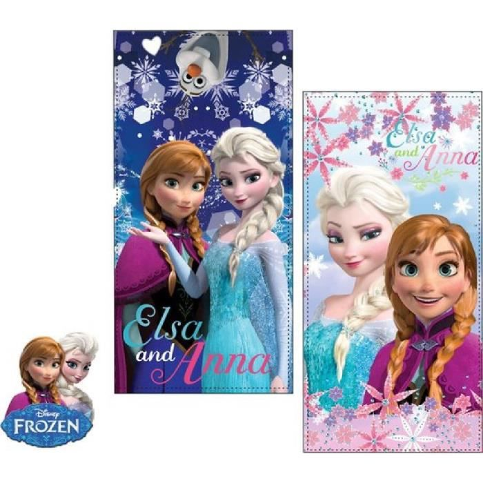 Disney Frozen La Reine des Neiges Serviette de Plage en coton (Rose)