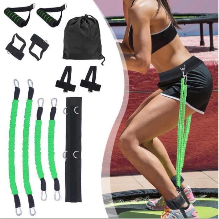 12 pcs-ensemble Bandes de Elastique Résistance pour entraînement de boxe Taille et Jambes boxe exercice fitness Vert