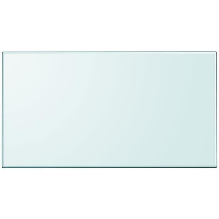 Furniture® Dessus de table convenable Design - Plateau De Table - rectangulaire en verre trempé 1200 x 650 mm ☺41028