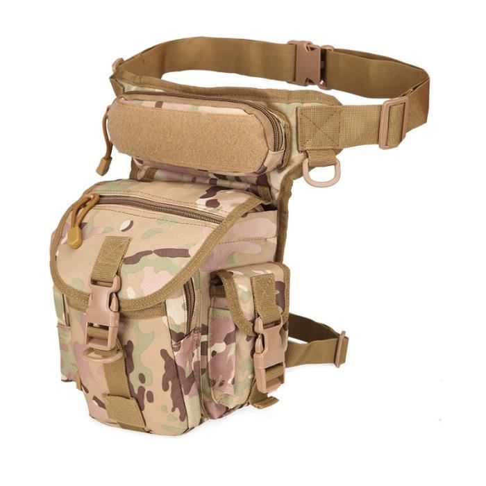 Three Sand -Sac à ceinture tactique en Nylon, sacoche à jambe tombante, outil banane Camping randonnée Trekking militaire, selle à b