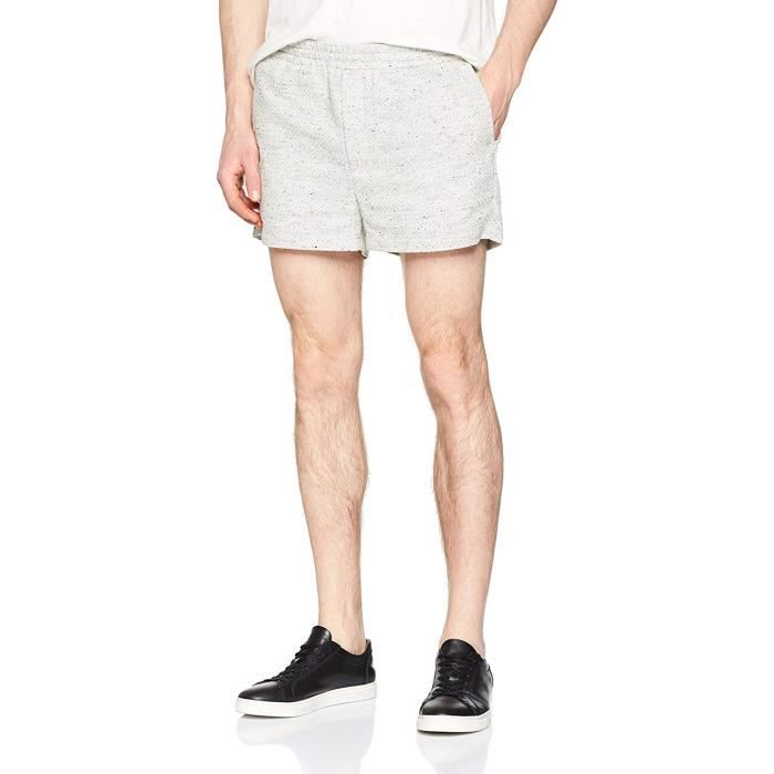 Libertine - 1441 - Boxer - Homme - Blanc (White 13) - Taille: 50 (Taille fabricant: Large) - Slow Short_1441-13