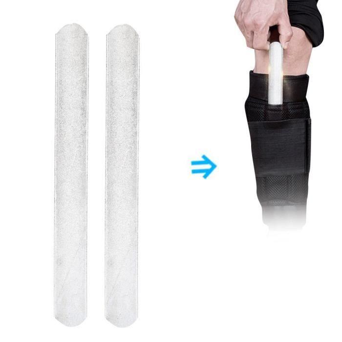 EBTOOLS Plaque d'acier 2pcs Plaque en Acier de Poids pour Équipement de Port de Protège-Tibias Gilet de Poids 25cm