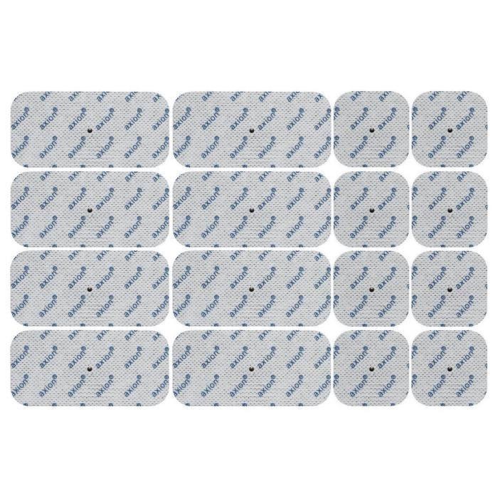 Axion - set de 16 électrodes 8 x 10*5 cm + 8 x 5*5 cm - uniquement compatible avec les appareils Panasonic - connecteurs snap