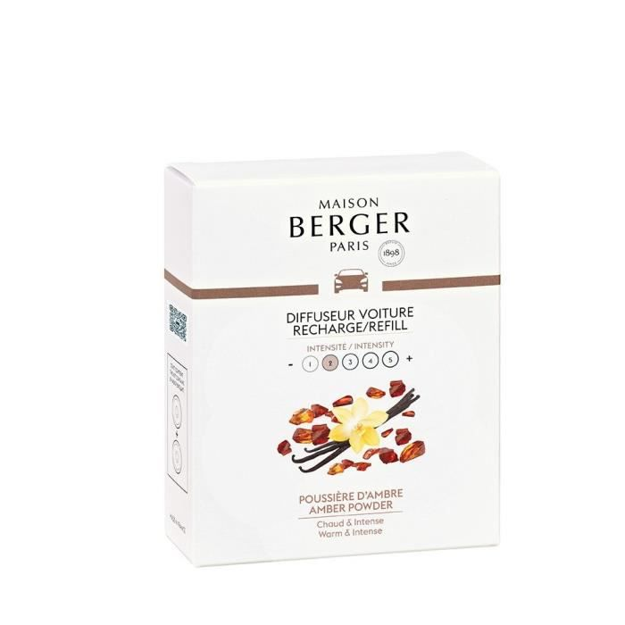 Parfum d'intérieur Recharge pour diffuseur de voiture Poussière d'ambre - Berger Multicolore