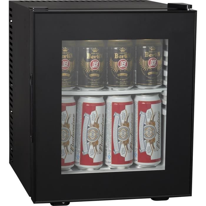 Brandy Best WINDOW200 Mini-bar vitré 19 litres catégorie A+ Noir totalement silencieux