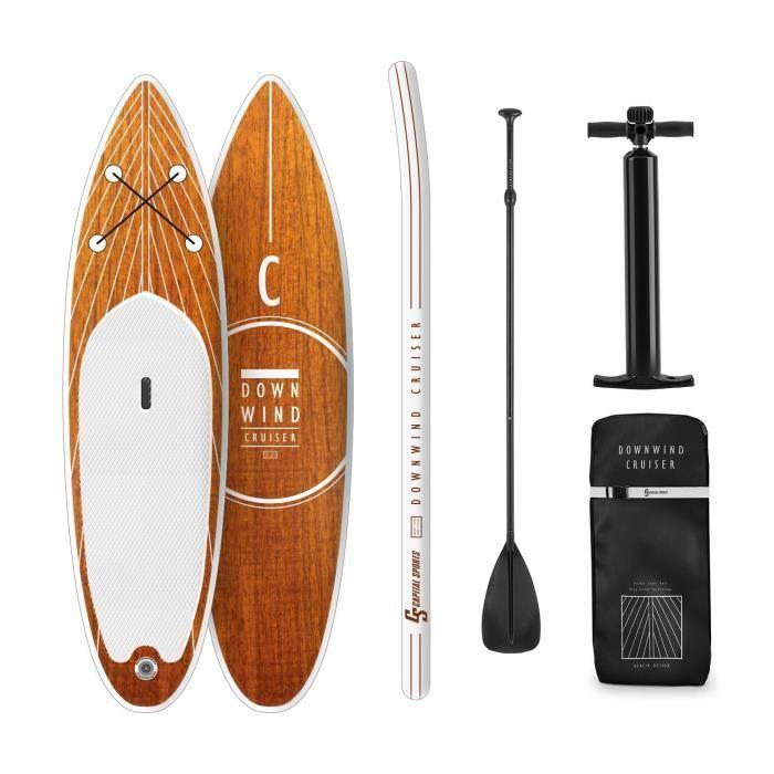 CAPITAL SPORTS Downwind Cruiser S Planche de paddle gonflable 305 x 10 x 77 cm , 100% PVC , orange