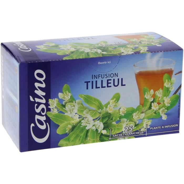 CASINO Infusion tilleul - 25 sachets - 35 g