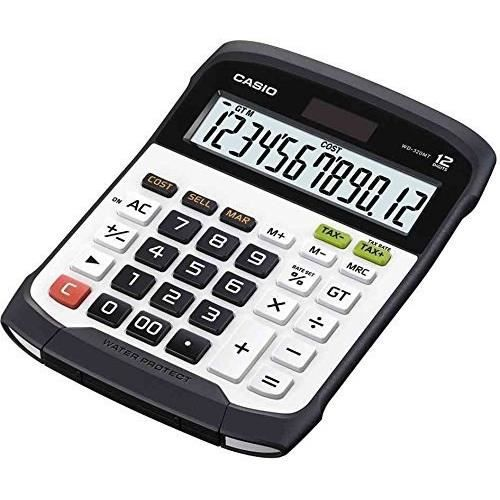 CASIO Calculatrice de bureau WD320MT blanche