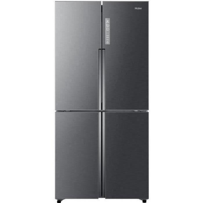 HAIER HTF-458DG6 - Réfrigérateur multi-portes - 456L (316+140) - Froid ventilé - L83.3 x H180.4 - Inox