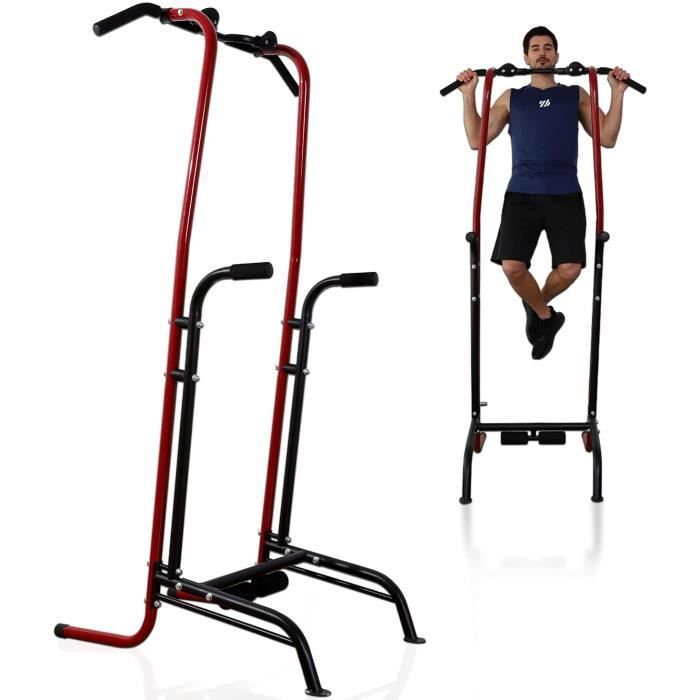 ISE Power Tower Pull Up Barre de Traction Chaise Romaine Multifonctions,Dips Station Chin Up Bar réglable pour Fitness