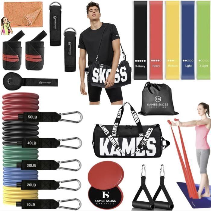 KAMES SKOSS PRESTIGE- Bandes de résistance, Kit Bande de resistances 23PCS, Musculation Ensemble,Bandes d'exercices.