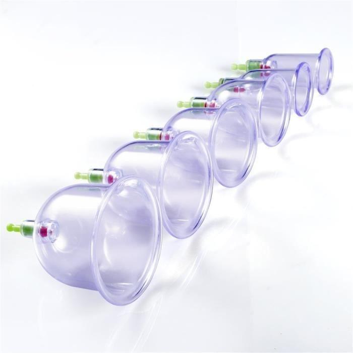 12 pcs ventouses thérapie tasses corps de massage chinois de soins de santé corps de vide médical relaxatio