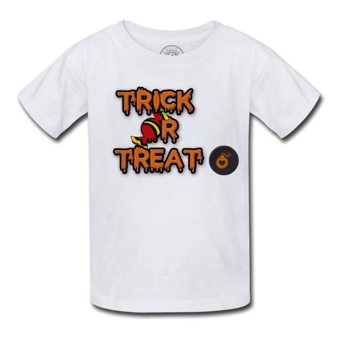 T-shirt Enfant Halloween Trick or Treat Bonbon Bombe