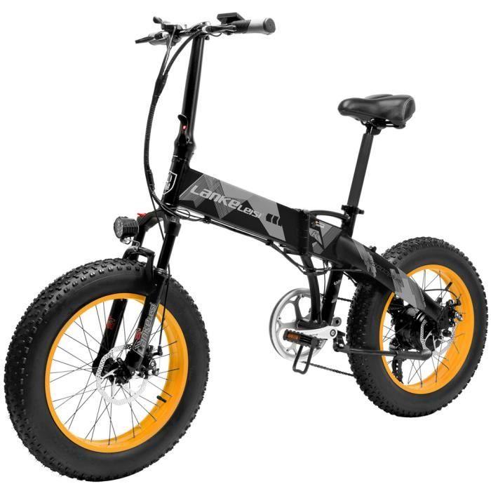 500W 20 pouces Vélo pliant d'assistance électrique 70 à 90 km