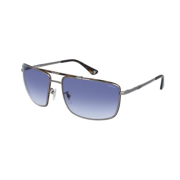 Police lunettes de soleil SPL965 ORIGINS 11 0508 Smoke silver 63 mm