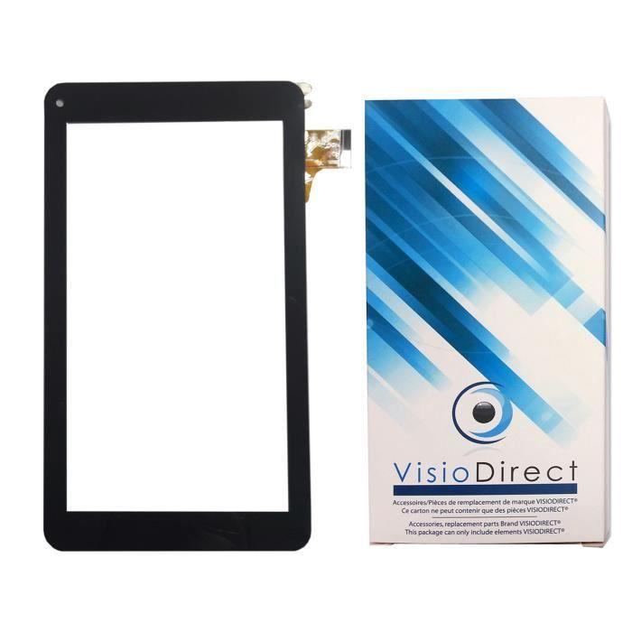 Vitre ecran tactile pour Thomson TEO QUAD 7 BK16 7- tablette noire