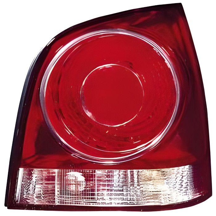 Feu arrière droit VOLKSWAGEN POLO IV de 2005 à 2009, fond rouge, Neuf.