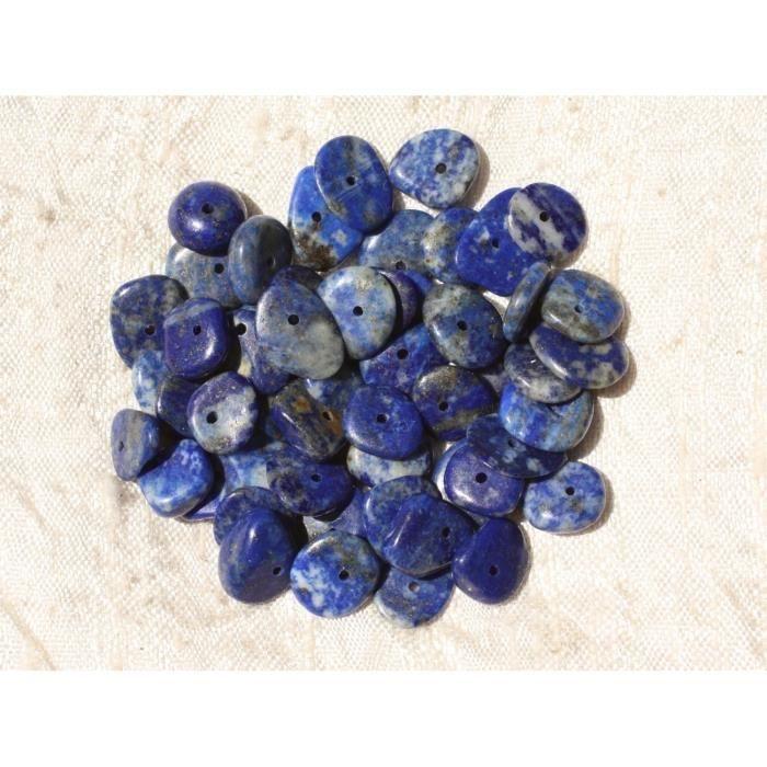 lot de 100//200 chips Perles lapis lazuli chips pierre de gemmes