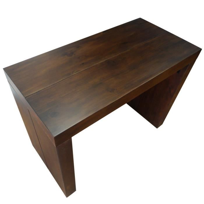 Table console 4 rallonges wenge stock xl meubles bon for Longueur table 4 personnes