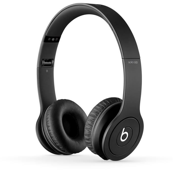 casque beats by dr dre solo hd black noir casque couteur audio avis et prix pas cher. Black Bedroom Furniture Sets. Home Design Ideas