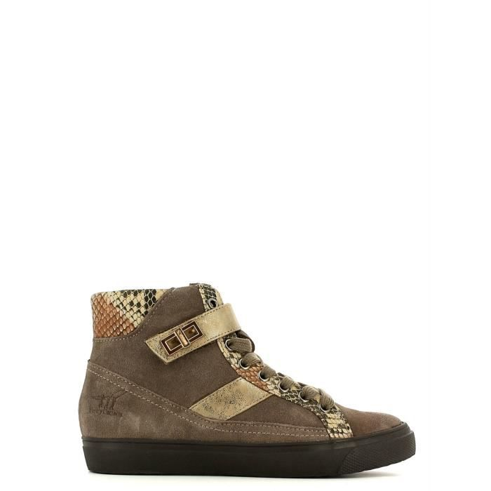 Henry cotton's Sneakers Femmes Taupe