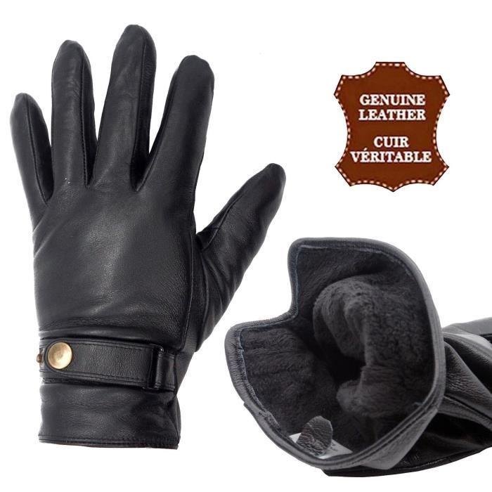 le cyclisme le camping Witery Gants dhiver en cuir /épais et chaud en polaire coupe-vent pour homme Id/éal pour la conduite etc. la moto