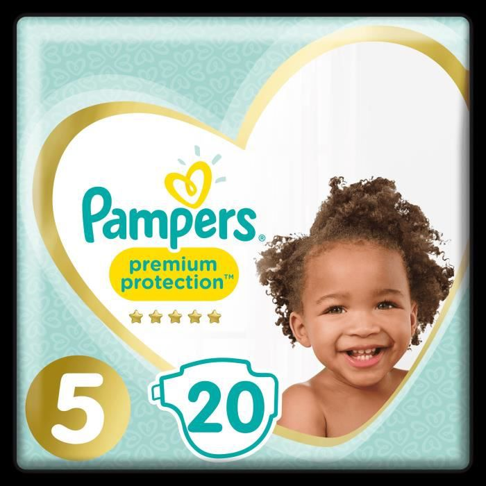 COUCHE PAMPERS Premium Protection Taille 5 11-23 kg - 20