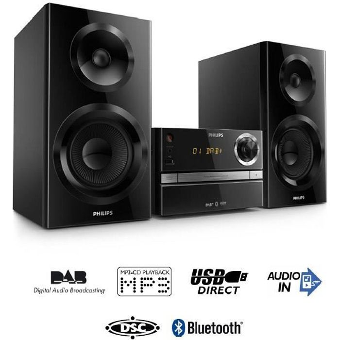 philips btb2370 cha ne hifi cd bluetooth 70w chaine hi. Black Bedroom Furniture Sets. Home Design Ideas