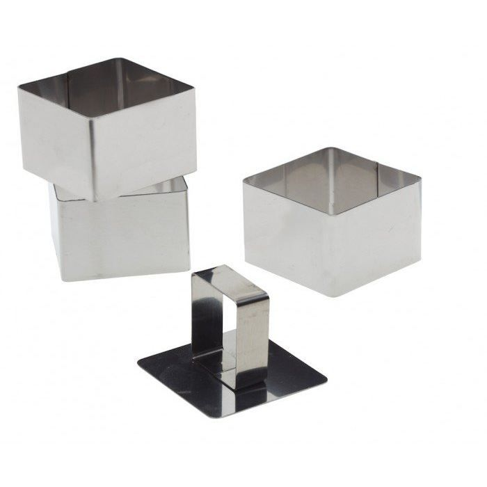 Lot 3 emporte pi ces carr poussoir 6x6x4cm achat for Emporte piece carre patisserie