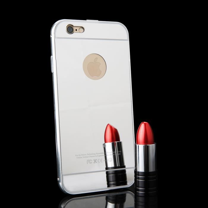Ranipobo coque m tal miroir pour iphone 7 plus 5 5 for Application miroir pour iphone