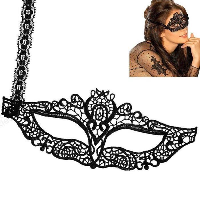 masque loup dor/é en dentelle yeux de biche Accessoire d/éguisement halloween