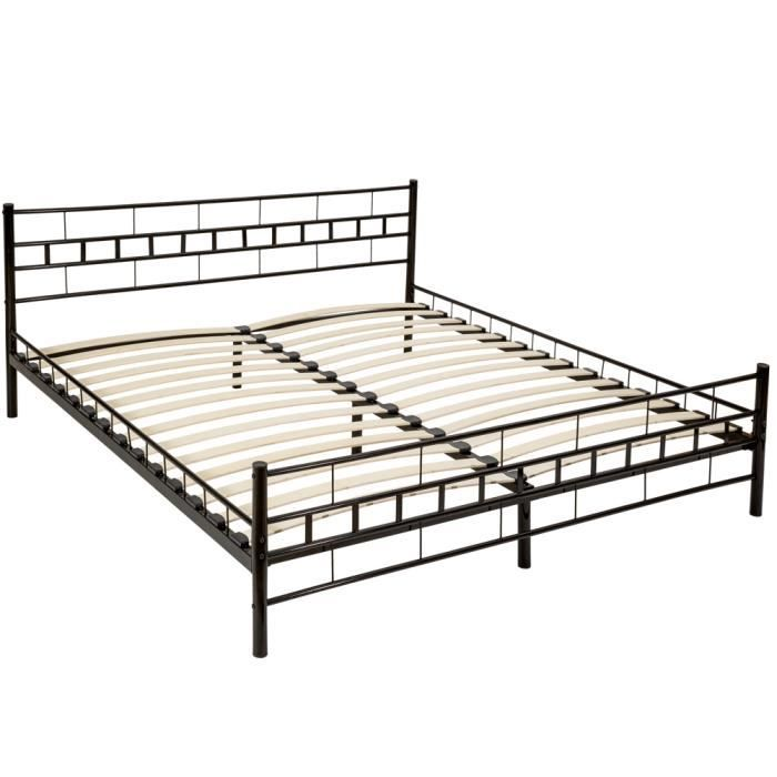 lit complet avec sommier et matelas 180x200 achat. Black Bedroom Furniture Sets. Home Design Ideas