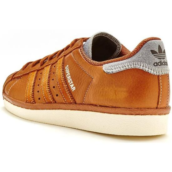 5049528b2660 Adidas Originals Superstar 80s Varsity Jacket Baskets en cuir dans B25566  Brown  UK 9