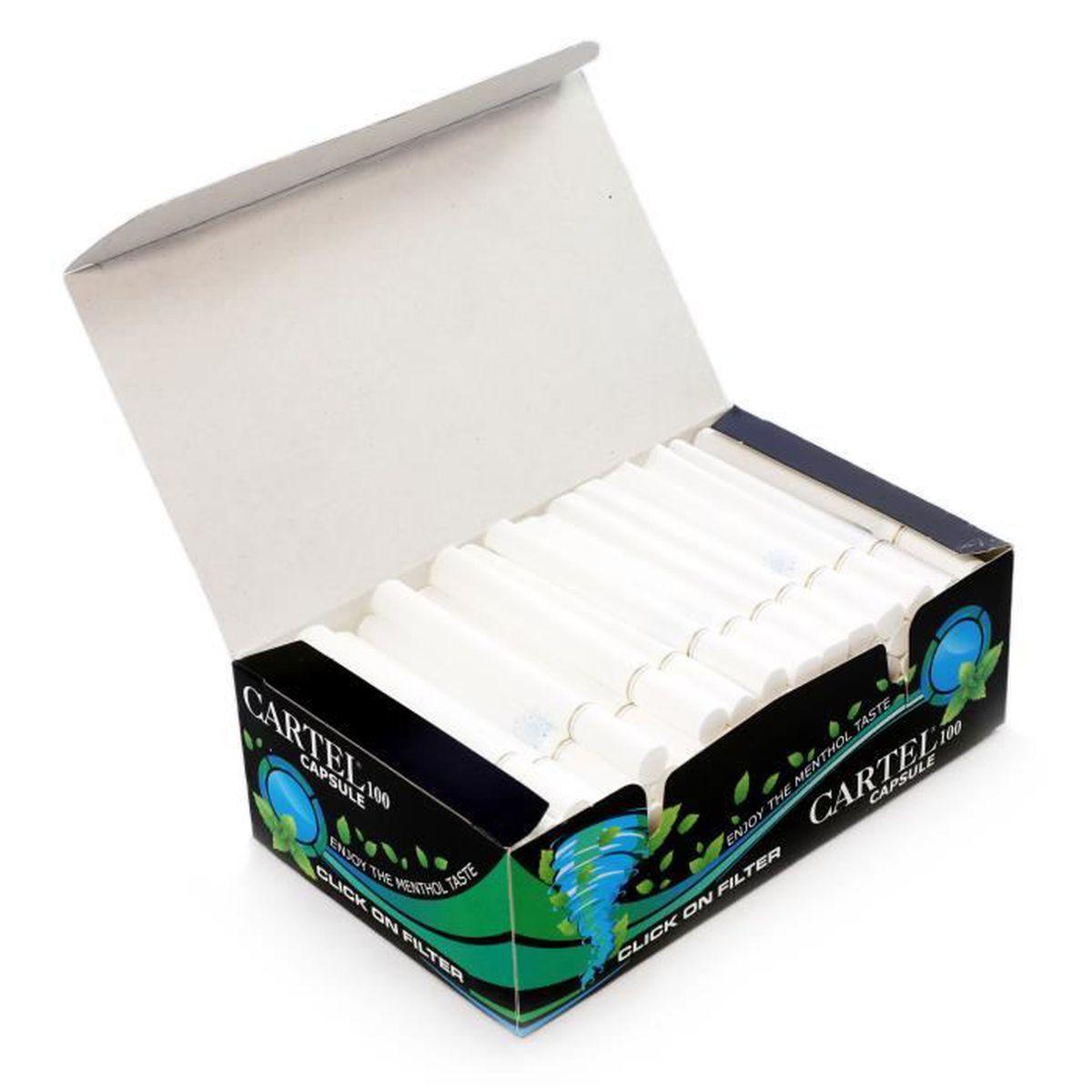 TUBE À CIGARETTE Cartel Capsule 100 tubes à cigarettes filtrés au m