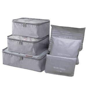 SAC DE VOYAGE 6PCS Organiseurs de Bagage Sacs Rangement de Valis