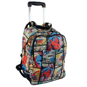 CARTABLE Sac à roulettes Spiderman Comics 41 CM - Cartable