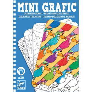LIVRE DE COLORIAGE Djeco-Next Page Mini Grafic Corbeille à coloriage