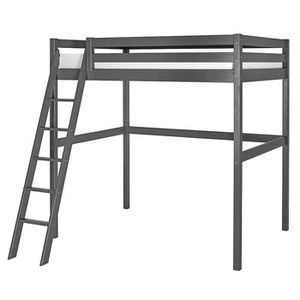 lit mezzanine 2 places achat vente lit mezzanine 2 places pas cher cdiscount. Black Bedroom Furniture Sets. Home Design Ideas