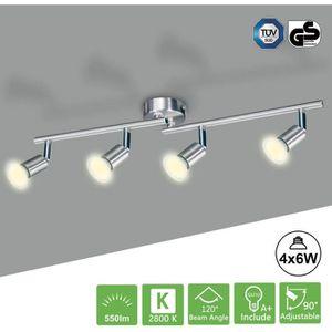 PLAFONNIER Kimjo Plafonnier LED à 4 Lumières avec Ampoules LE