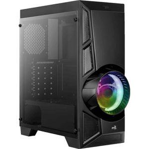 BOITIER PC  AEROCOOL AeroEngine (RGB) Noir TG (Verre trempé) -