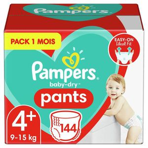 COUCHE PAMPERS BABY-DRY PANTS Taille 4+ - 144 couches - P