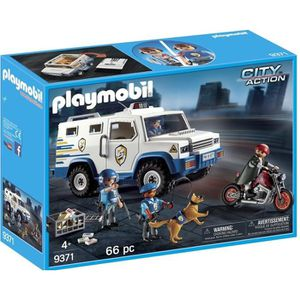 UNIVERS MINIATURE PLAYMOBIL 9371 - City Action - Fourgon Blindé AVEC