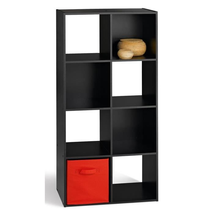 compo cube 8 cases noir achat vente meuble a casier compo cube 8 cases noir pp ep 12mm. Black Bedroom Furniture Sets. Home Design Ideas