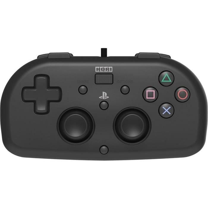 MANETTE JEUX VIDÉO Hori Mini Manette Filaire Noire Pour PS4 - Licence