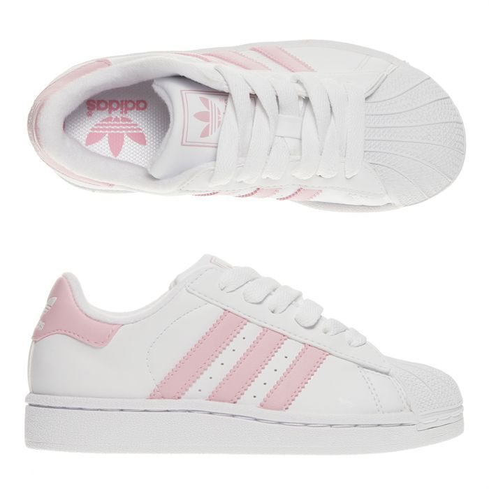 superstar blanche bout rose