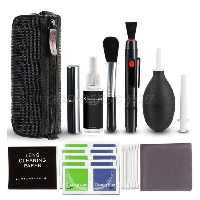 Entretien et nettoyage,Kit de nettoyage d'appareil photo DSLR Kit de nettoyage d'appareil photo numérique professionnel pour la