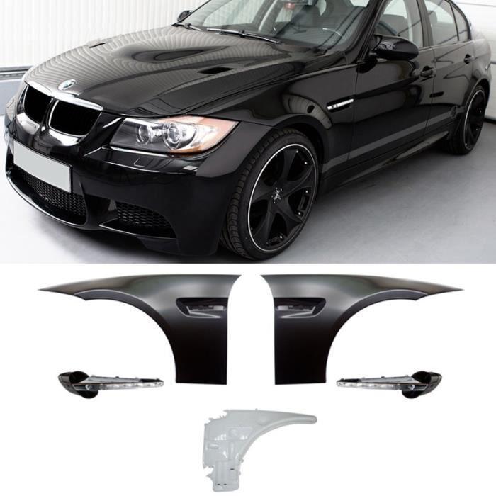 2 AILE M3 + CLIGNOTANTS LED POUR BMW SERIE 3 E90 / E91 LOOK M3 + RESERVOIR ESSUIE GLACE